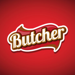Butcher Shop Design Element, Label or Badge