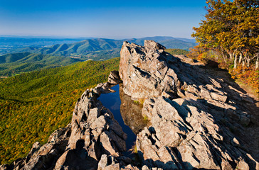 Early evening view of the Blue Ridge Mountains and Shenandoah Va