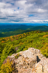 Early autumn view from Bearfence Mountain in Shenandoah National