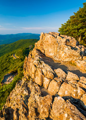 Evening view from Little Stony Man Cliffs in Shenandoah National