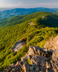 Evening view of the Blue Ridge Mountains from Little Stony Man M