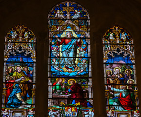 Assumption of Mary - stained glass