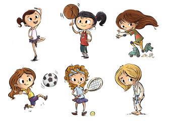 niñas haciendo deporte