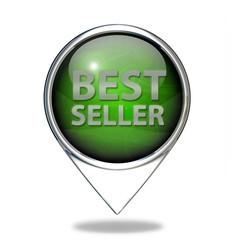 Best seller pointer icon on white background