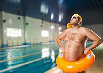 Freak man in the pool
