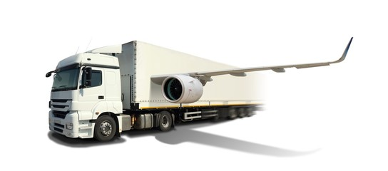 Fast Cargo with Flying Truck