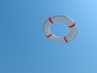 lifebuoy on a sky background