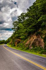 Steep hillside along Skyline Drive in Shenandoah National Park,