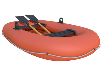 inflatable boat on a white background