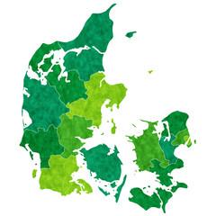 デンマーク 地図 国