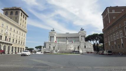 Italy Rome Piazza Venetzia time lapse