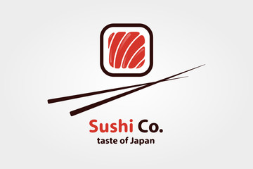 Vector logo design element. Sushi, restaurant, japanese