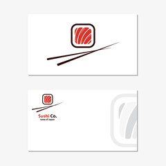 Vector logo design element. Sushi, roll, japan