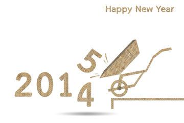 burlap happy new year 2015