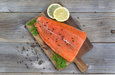 Salmon Fillet seasoned and ready for cooking