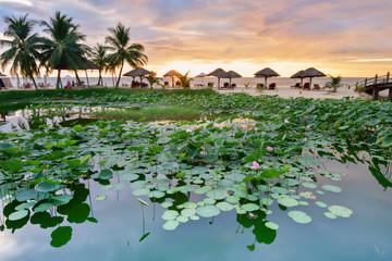Sunset in Gulf of Thailand