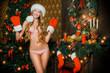 woman santagirl