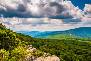 View of the Blue Ridge Mountains from South Marshall, in Shenand