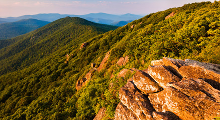 View of the Blue Ridge Mountains from the Pinnacle, along the Ap