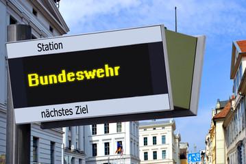 Anzeigetafel 7 - Bundeswehr
