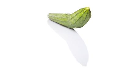 Snake gourd vegetable over white background