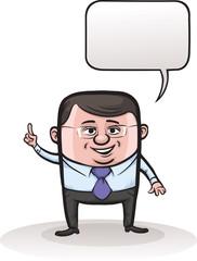 cute cartoon vector businessman character