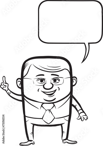 Whiteboard drawing cute cartoon vector businessman for Cute whiteboard drawings