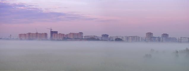 Mist before Bataisk. Rostov region. Russia