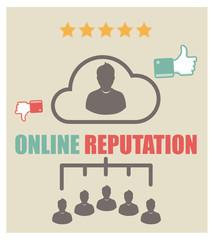 online reputation - cinq étoiles