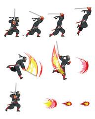 Ninja Attack Game Sprite