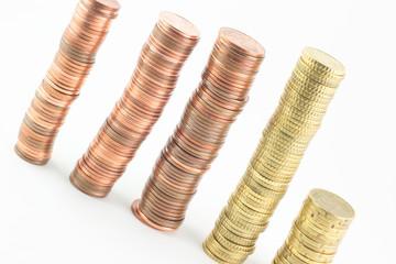Pile di monetine