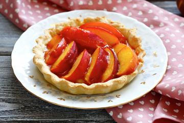 Tart with Peaches