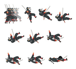 Ninja Dying Game Sprite