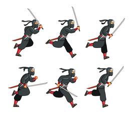 Ninja Running Game Sprite