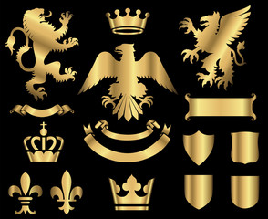 Gold Heraldry Ornaments