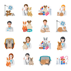 Veterinary Icon Flat
