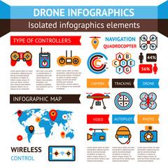 Drone Inforagraphic Set