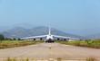 White heavy cargo jet