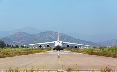 White heavy cargo jet