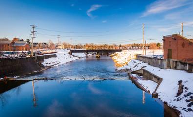Codorus Creek in downtown York, Pennsylvania.