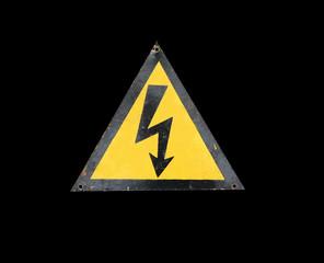 high voltage sign vintage