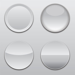 white clean gloss button