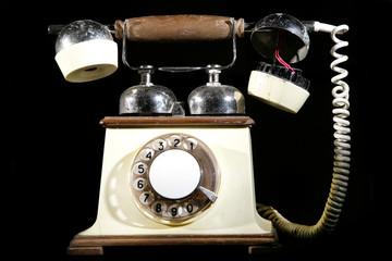 telephone broken analog vintage