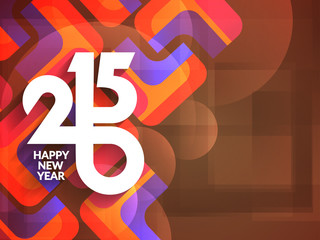 happy new year 2015 modern background design.