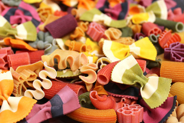 Italian colored noodle - Pâtes colorées