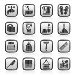 Bathroom and Personal Care icons- vector icon set 1