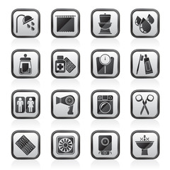 Bathroom and Personal Care icons- vector icon set 2