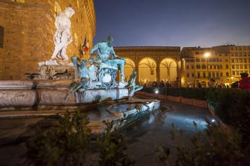 Italia,Toscana,Firenze, Fontana del Nettuno