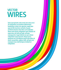 Abstract colorful curly wires. Vector illustration