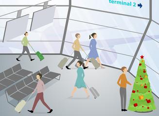 passenger inside the airport terminal